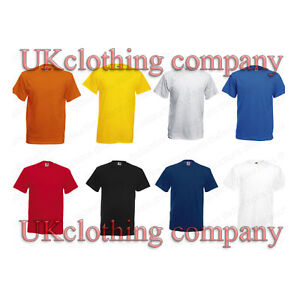 Fruit-of-the-Loom-Plain-Heavy-Cotton-t-shirt-Blank-Short-Sleeve-Top-S-TO-3XL