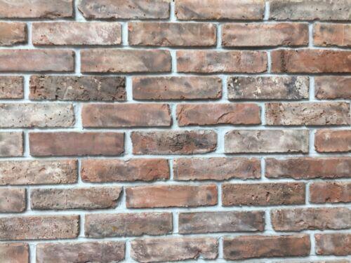 brick slips brick tiles  reclaimed 19th century clay dark red//brown