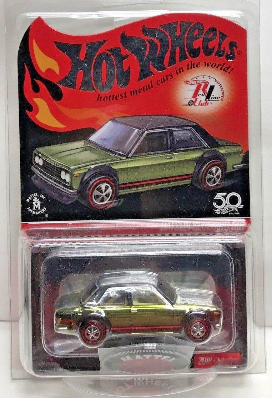 Hot Wheels 2018 rot Line Club Car RLC Olive Datsun Blaubird 510  'd 2281 17500