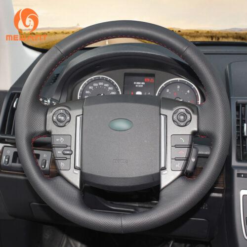 Black Leather Car Steering Wheel Cover for Land Rover Freelander 2 2013-2015