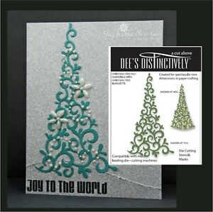 CHRISTMAS-TREE-No-1-Die-Dee-039-s-Distinctively-Dies-IME-022-Holidays-Trees