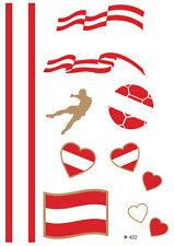 Temporary Tattoos Austria Flags Flags EM Flash Tattoo Foot Ball Fan Ö-01