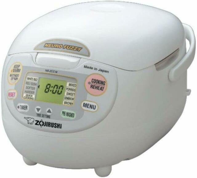 Zojirushi Neuro Fuzzy NS-ZCC10 680W 1L Rice Cooker - White