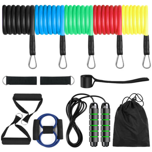 Resistance Loop Bands Set Strength Fitness Gym Exercise Yoga Workout Pull Up US