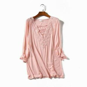 02c411ed6f998 Image is loading Womens-Clothing-Plus-Size-Crisscross-Lace-Front-Tops-
