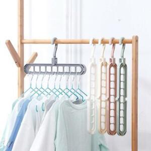 5pcs-9-Hole-Rotate-Anti-skid-Folding-Hanger-Magic-Hook-Hanger-Drying-Clothes