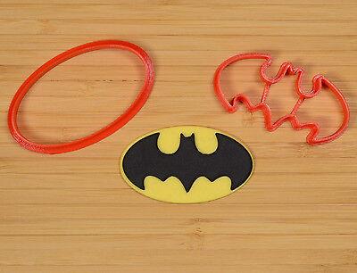 3d printed plastic 2 pcs.Superman Logo Fondant Cutter Set
