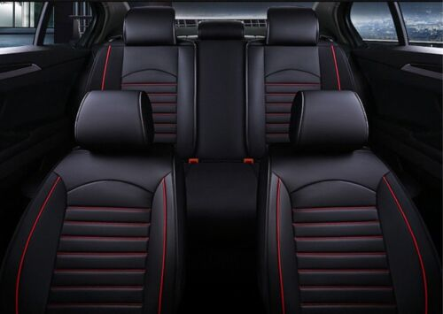 Deluxe Black Red PU Leather Full set Seat Covers For KIA Sportage 2009+