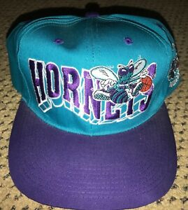 46f501bf0956d6 Image is loading Vintage-Charlotte-Hornets-Snapback-Hat-90s-NBA-Basketball-