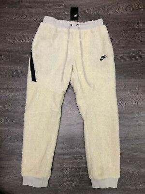 Indica musicas Traición  Nike Sportswear Tech Fleece Icon Sherpa Jogger Pants Cream White $120  AQ2769-072 | eBay
