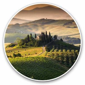 2-x-Vinyl-Stickers-7-5cm-Tuscany-Italy-Italian-Travel-Cool-Gift-2339