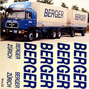 Man-Berger-Zurich-Suiza-Ch-1-87-Adhesivo-Pegatina-Camion
