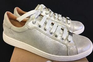 32a8b11575f Details about Ugg Australia Milo Stardust Lace Up Sneakers Tennis Shoes  1019219 silver trainer