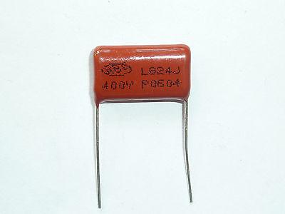 10PCS CL21 824J 250V 0.82UF 820NF P20 Metallized Film Capacitor