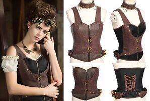Gothic Steampunk RQ-BL Choker Top SET  Pirates Korsett Shirt LARP Vintage SP172