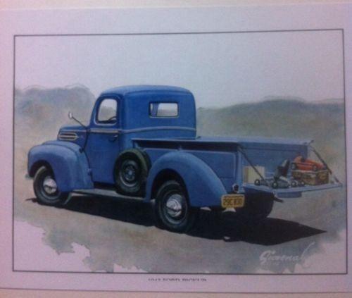 "/""1942 Ford Pickup/"" Illustration 8x10 Reprint Garage Decor"