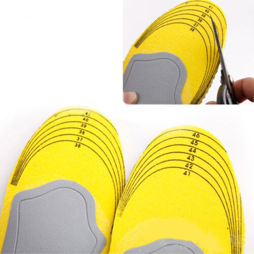 Unisex Memory Foam Orthotics Arch Supports Shock Absorption Sports Shoe Insoles