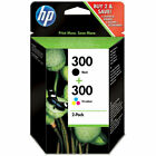 HP 300 Black and Tri-color Ink Cartridge Combo Pack (CN637EE)