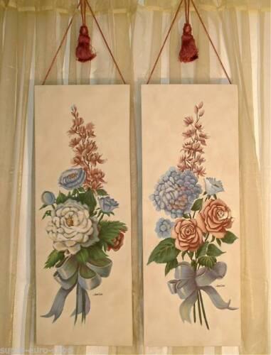 Bilder handgemalt auf  Leinwand 2-er Set ca Dekoaufhänger 78 x 30cm