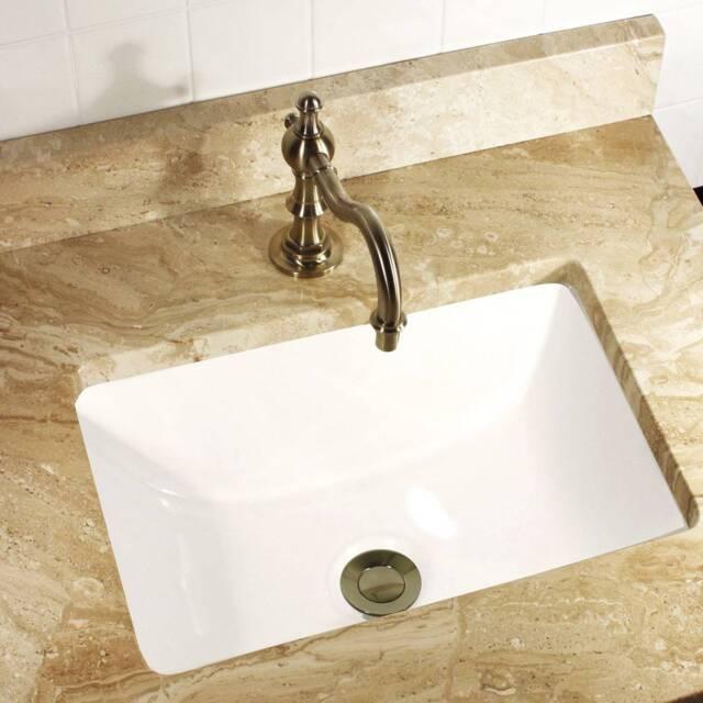 Incroyable Ceramic 16 X 11 White Bathroom Kitchen Vanity Undermount Basin Faucet Drain  Sink