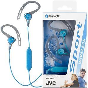 JVC HAEC20BT BLUE Sport Wireless Bluetooth In-Ear Headphones Ear ... 48f7cadf8c