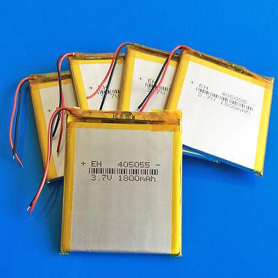5pcs 3.7V 1800mAh LiPo Battery For PC DVD GPS Camera MID Recorder PAD PDA 405055