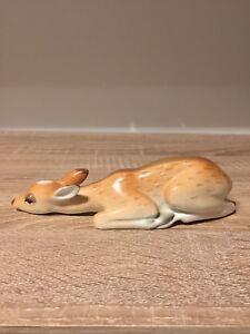LOMONOSOV RUSSE porcelaine animal figurine CERF-BICHE allongé-afficher le titre d`origine o5SddJoy-09091835-543207868