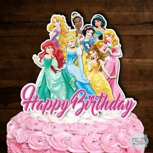 Disney Princess Cake Topper Cutout Cake Decoration Centerpiece