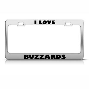 "/""I LOVE MY WESTIE/"" Metal Auto License Plate Frame Car Tag Holder"