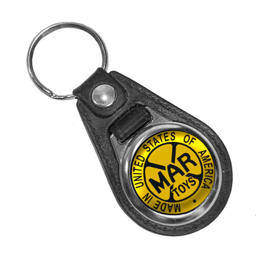 Marx Toys Made in United States Advertisement Round Faux Leather Key Ring