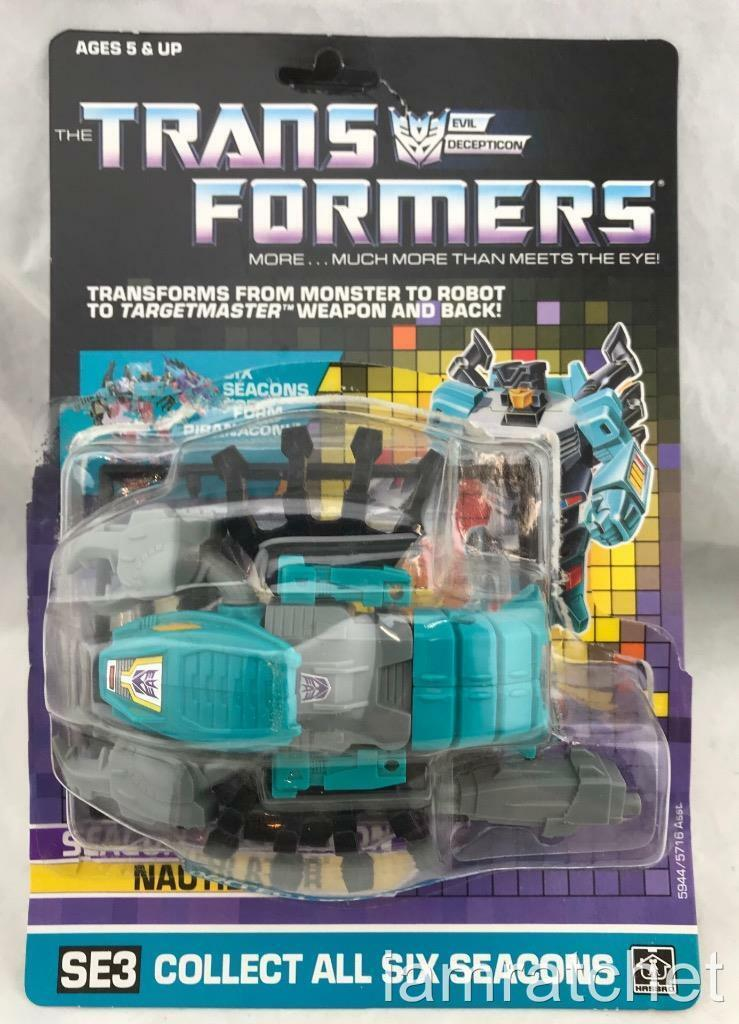 Transformers Original G1 1987 Nautilator Complete w  Card Big Bubble Stickers