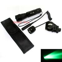 Ultrafire Tactical 501b Cree Green Light Led Flashlight + Mount Pressure Switch