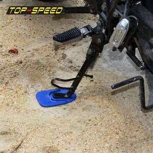 Image is loading Blue-Motorcycle-Dirtbike-Foot-Pad-Base-Kickstand-Pad- & Blue Motorcycle Dirtbike Foot Pad Base Kickstand Pad Side Stand ...
