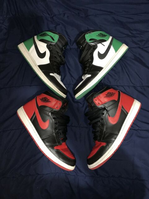 Air Jordan Retro 1 High DMP Pack Bred Celtics Green Men Size 11.5 Lot 2 OG