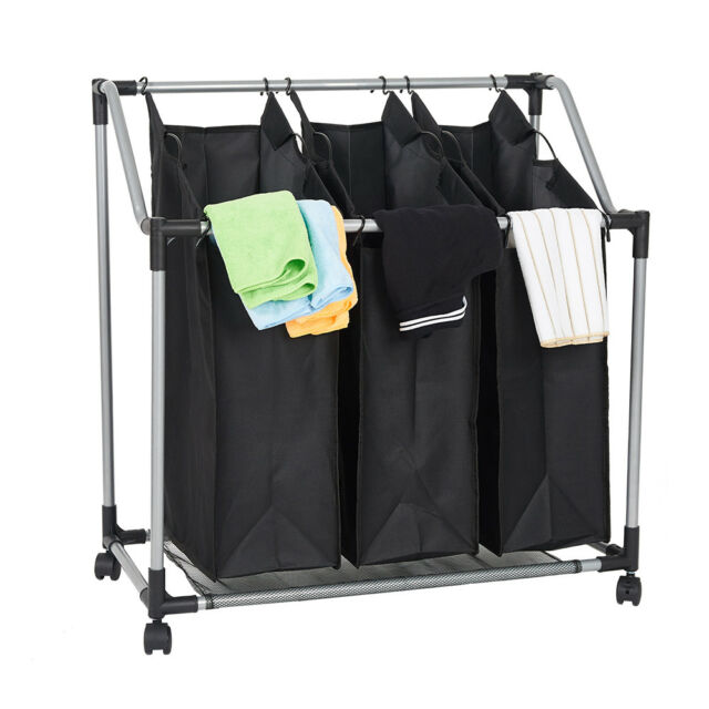 Laundry Hamper Sorter with Heavy Duty Rolling WeHome 4 Bag Laundry Sorter Cart