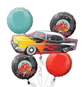 Rock Roll Clasico De 50 Anos Globo Bouquet 5pc Anos 50 Fiesta De