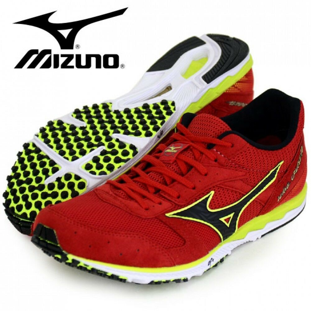 Running shoes WAVE CRUISE 12 U1GD1760 Red × Black × Yellow F S