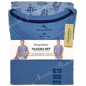 Tommy-Bahama-Men-039-s-Size-XXL-Blue-Hula-Girl-Print-Pajama-2-Piece-Set-NWT-78
