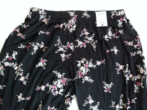 LV Clothing Floral print black trousers Uk size XL//XXL