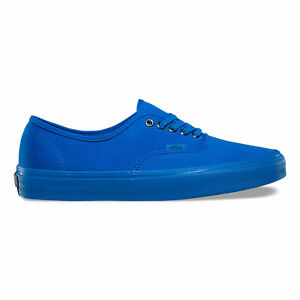 3de449daebec8a Image is loading Vans-Authentic-Primary-Mono-Imperial-Blue-Silver-Canvas-