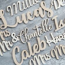 Personalised Wooden Script Names Letters Words MDF Personalised Plaque Sign Art