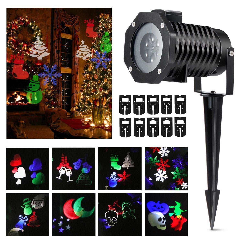 Patterns led laser lights landscape projector color