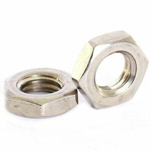 304 Stainless Fine Thread Hex Half Nuts M6 M8 M10 M12 M14 M16 M18 M20 M22 M24