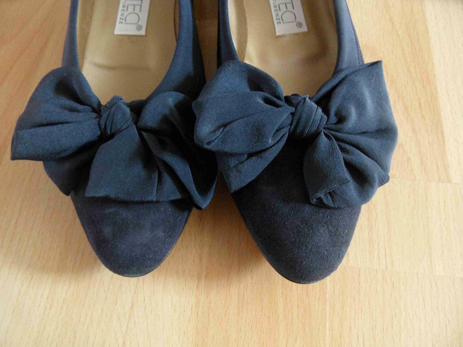 MAURO blau TECI hochwertige Nubuk BallerinasTextilschleife blau MAURO Gr. 39 NEUw. 0914 ef7a23