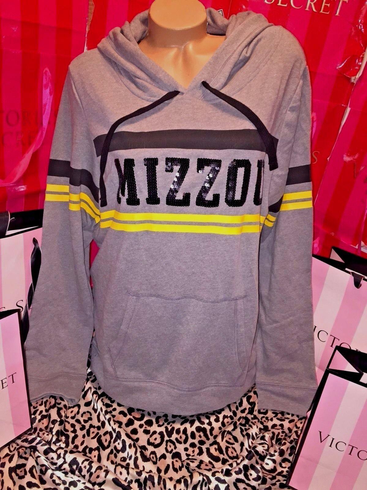 Victorias Secret Pink Mizzou Tigers Bling Hoodie XS