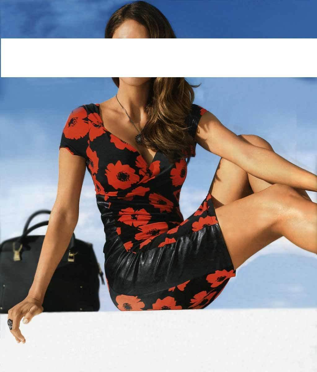 Ashley Brooke Designer-Kleid, schwarz-rot Gr 34 36 38 40 40 40 | Guter Markt  | Einzigartig  | Genial Und Praktisch  31990b