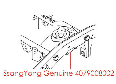 Genuine 4079008002 LH BRACKET ASSY BUMPER STOPPER For 2001 2014 SsangYong Rexton