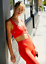 NEW Free People Movement Yoga Square Neck Good Karma in Red Apple XS//S-M//L $48