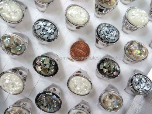 15pcs cheap  chunky seashell wholesale ring jewelry lot