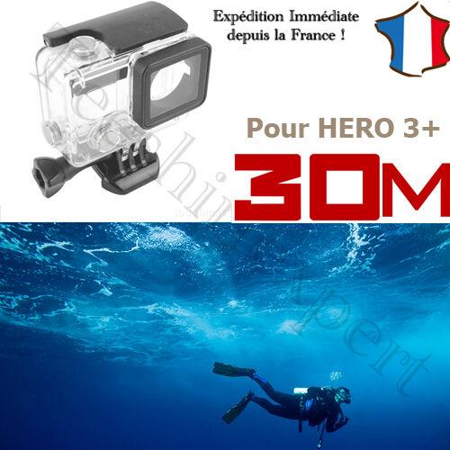 BOITIER COQUE ETANCHE SUBMERSIBLE 30m Plongée mer piscine pour GOPRO HERO 3+